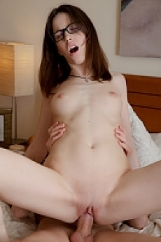A Teen Girl with Glasses Gets Fucked