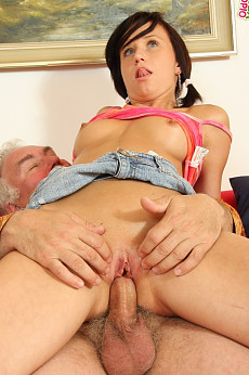 Natalia soon realises that not only has she got a lot to learn, but she is also going to have one he'll of a good time fucking and sucking this old guy.And when her boyfriend joins in she's even happier!