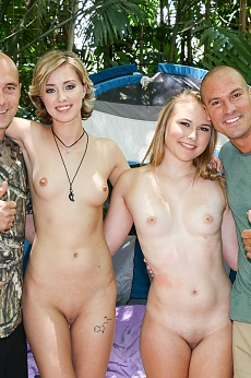 Alyssa Cole and Haley Reed go camping with their dads
