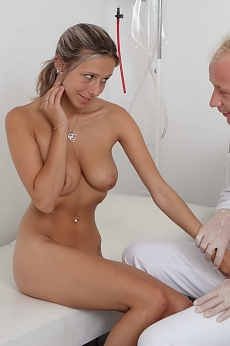 Busty cutie fucked by her doctor