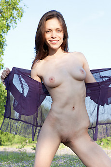 Nude girl outdoors