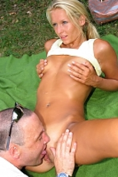 Blonde girl gets anal fuck